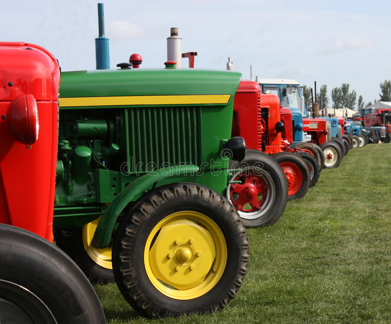 Farming Tractors. A Collection of Agricultural Tractors royalty free stock photo