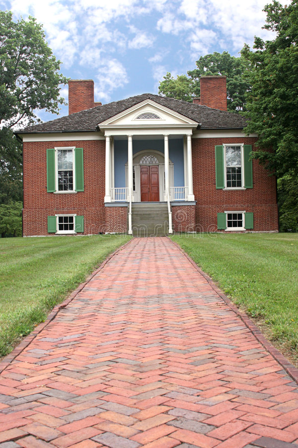 Farmington Colonial Home stock image