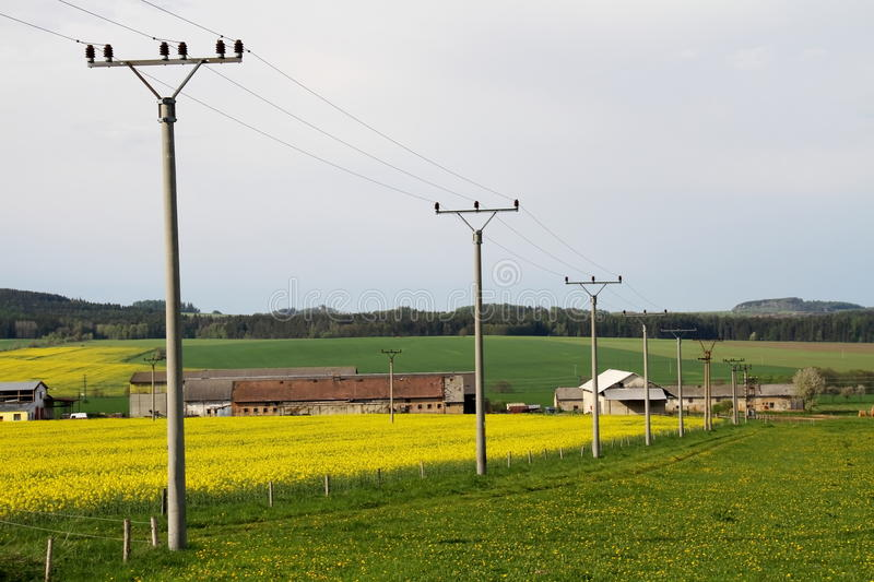 Download Farmland 1 stock photo. Image of height, conductor, distribution - 14245574