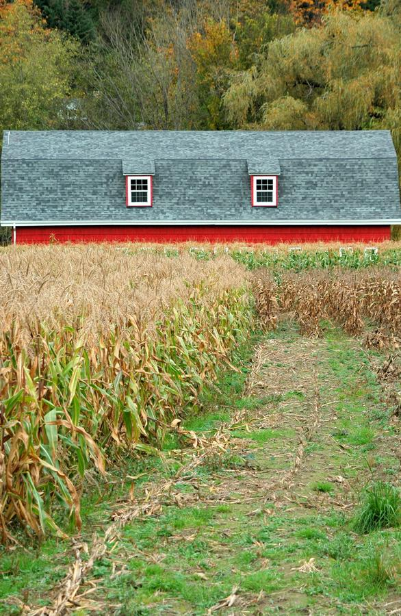 Farmland house. Farmland storage house displayed in nature outdoors royalty free stock photos