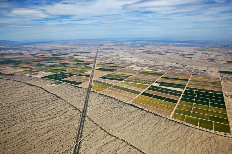 Download Farmland Meets the Desert stock photo. Image of irrigation - 26152548