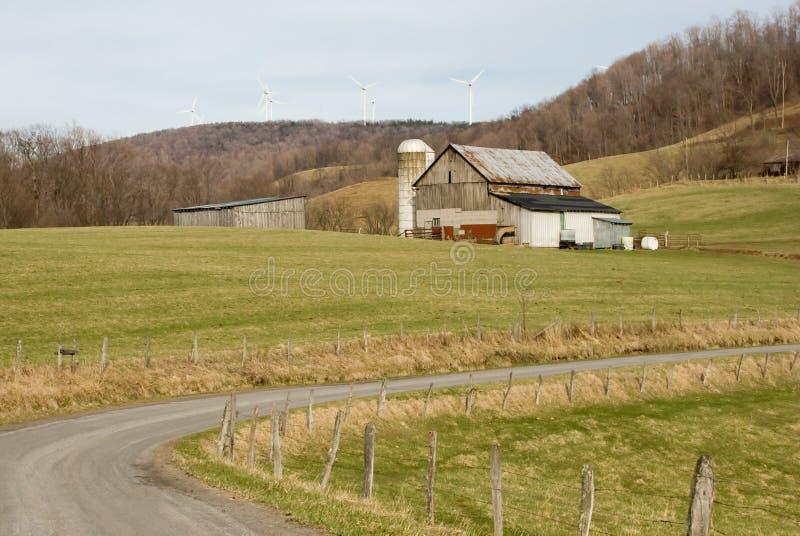 Farmland & Modern Windmills stock photos