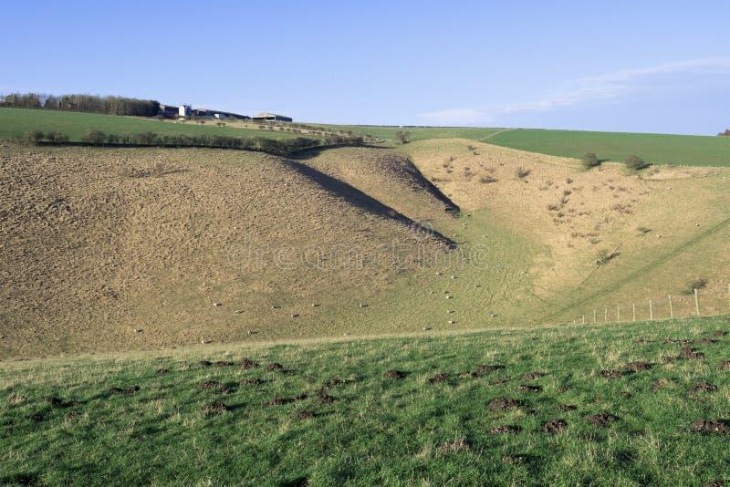 Farmland 2, niedaleko Millington, Yorkshire Wolds, East Riding zdjęcia royalty free