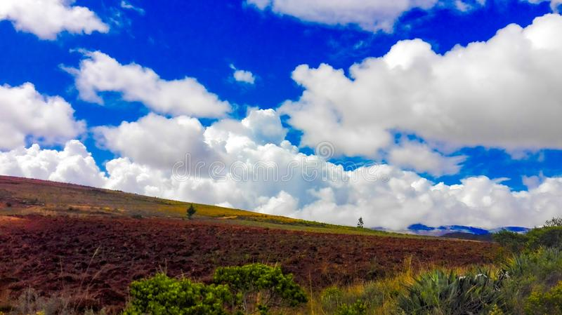 Farmland in the Peruvian Andes stock photo