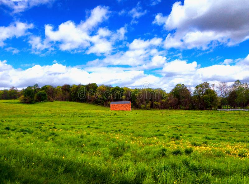Farmland in Simsbury Connecticut stock images