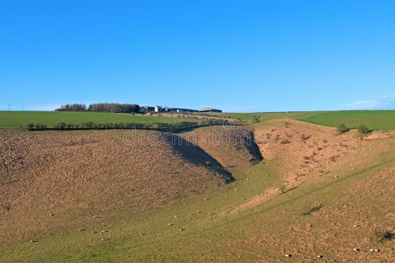 Farmland vale, niedaleko Millington, w hrabstwie Yorkshire Wolds zdjęcia royalty free