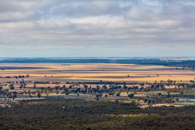 Farmlands in Australian countryside. Beautiful farmlands in Australian countryside stock photo