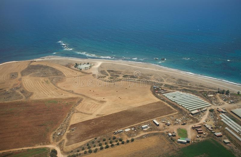 Agriculture on the south coast near Paphos stock photo