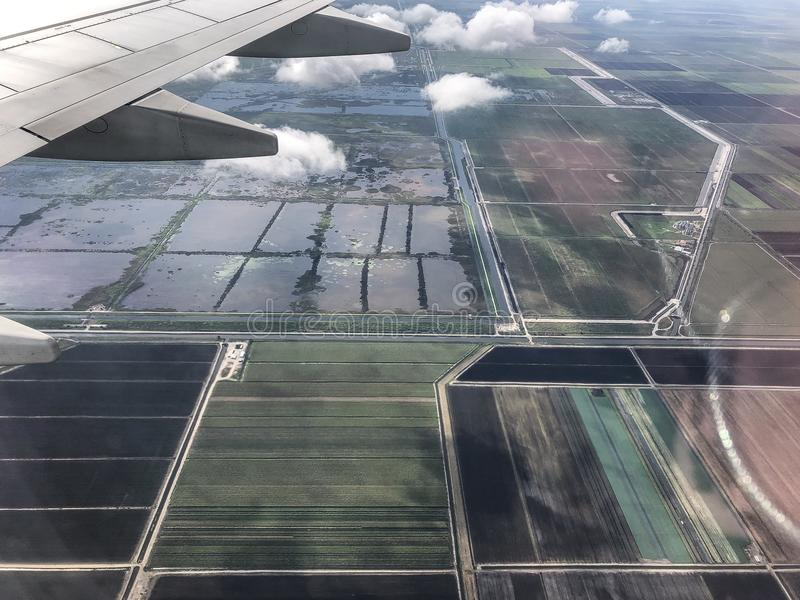 Farmlands in south Florida. Aerial view of farm land in South Florida stock image