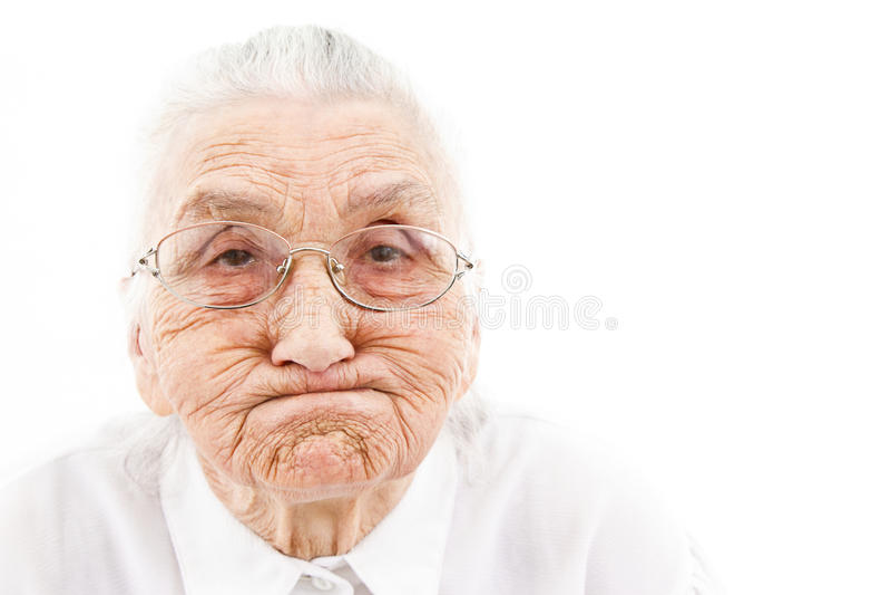 Rolig mormor arkivfoton