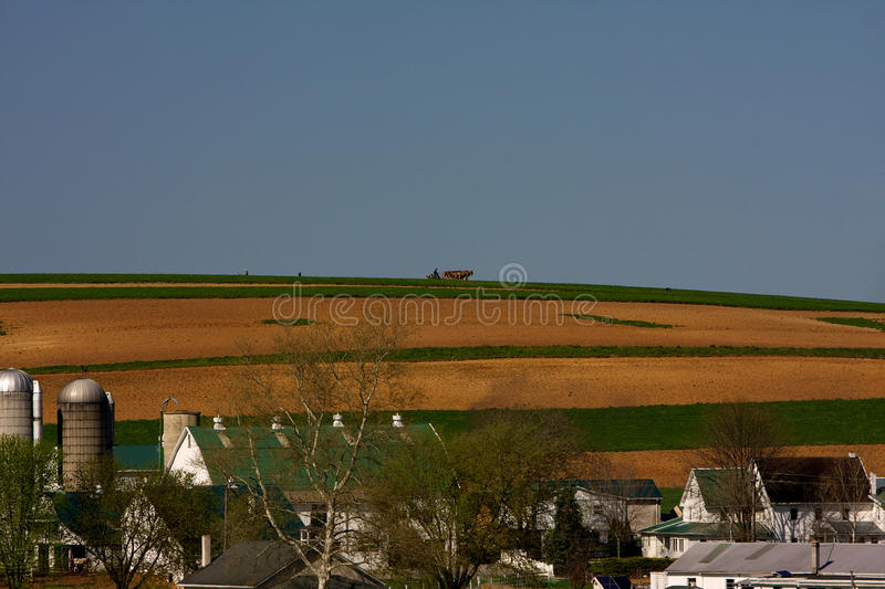 Farms in Amish Country stock photo