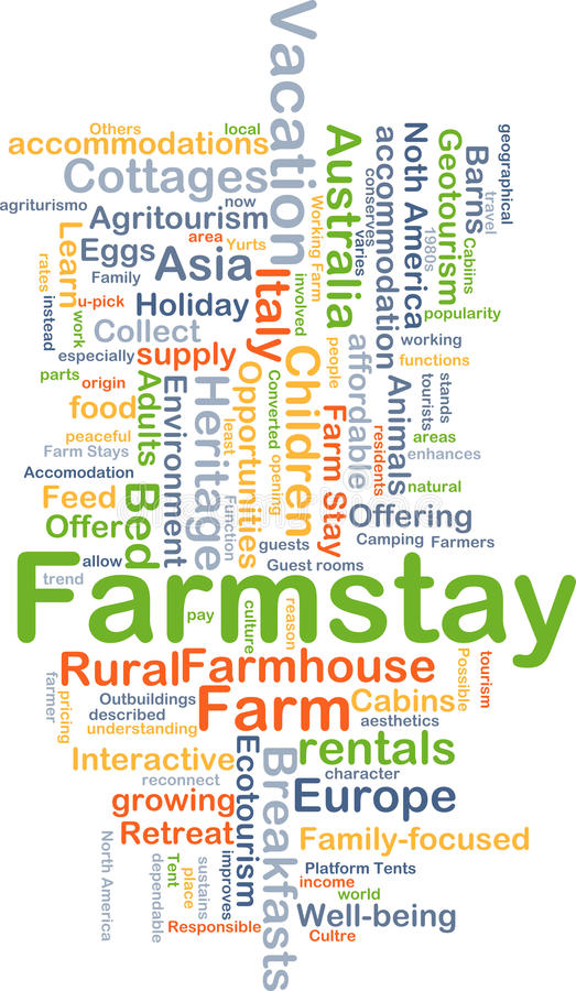 Farmstay background concept stock illustration