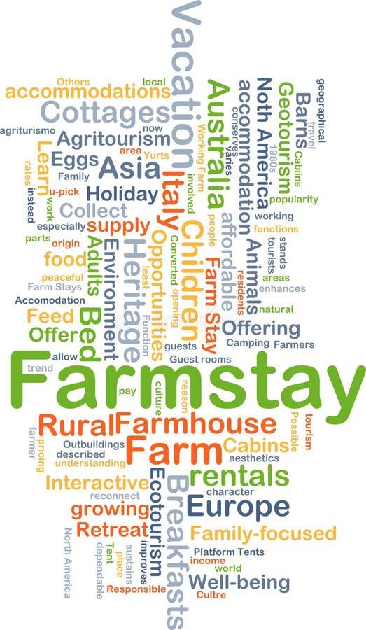 Farmstay-Hintergrundkonzept stock abbildung