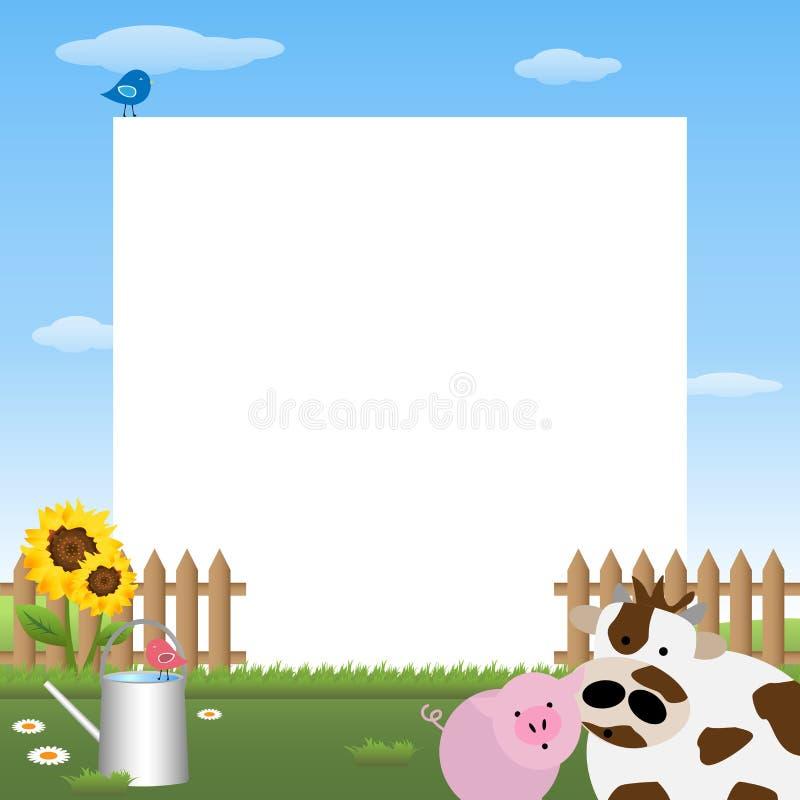 Farmyard frame. Illustration of a cute farmyard frame.EPS file available