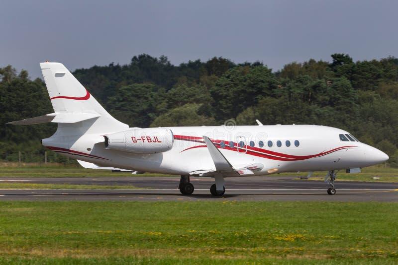 TAG Aviation Dassault Falcon 2000 G-FBJL stock photo