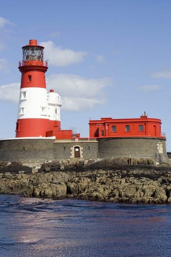 Farne Wysp Anglii Latarni Longstone Wielkiej Brytanii Obraz Royalty Free