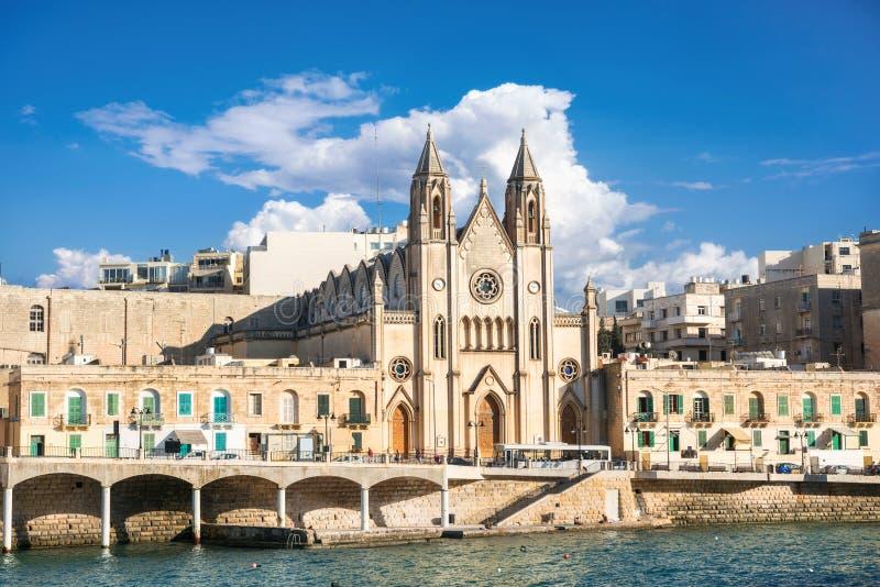 Farny kościół St Julians, Malta zdjęcie royalty free