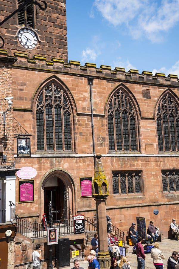 Farny kościół w Chester Anglia obrazy royalty free