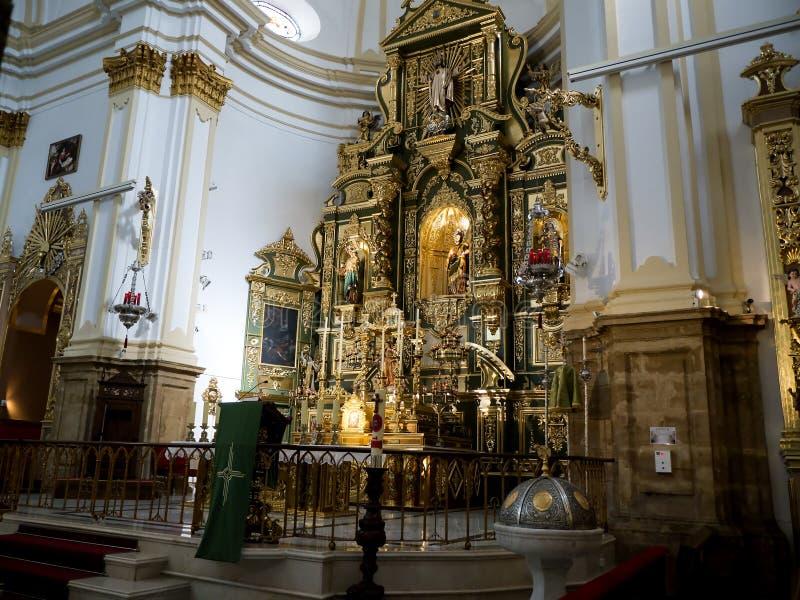 Farny kościół w Eleganckim miasteczku Marbella na Costa Del Zol Hiszpania obrazy royalty free