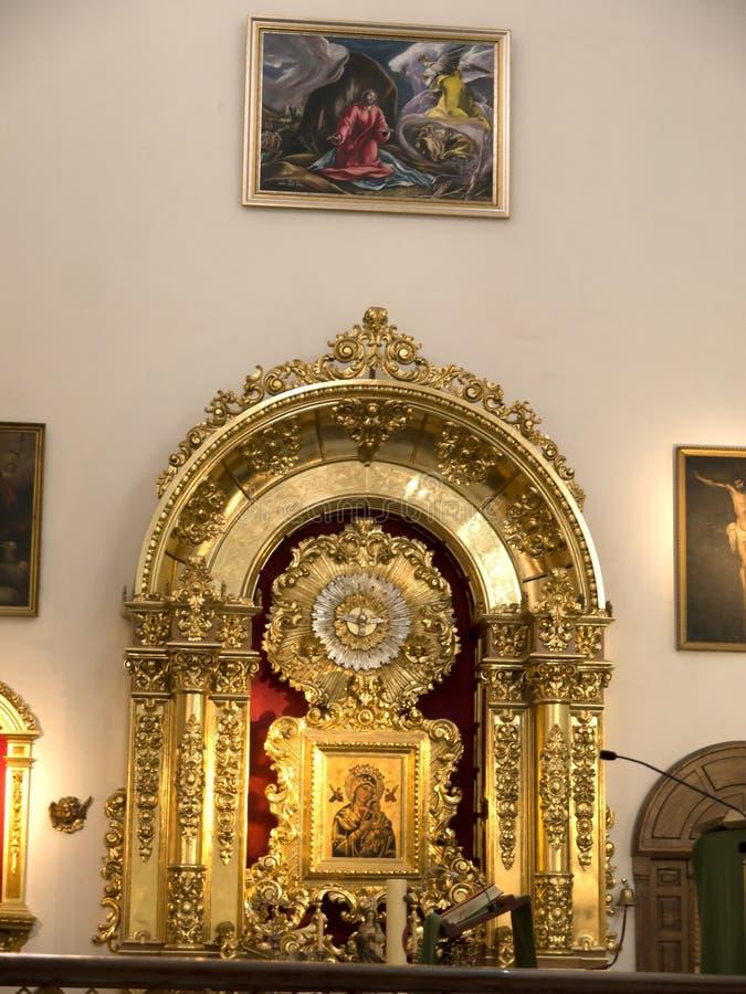 Farny kościół w Eleganckim miasteczku Marbella na Costa Del Zol Hiszpania zdjęcie royalty free