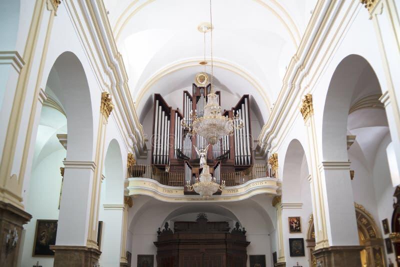 Farny kościół w Eleganckim miasteczku Marbella na Costa Del Zol Hiszpania fotografia royalty free