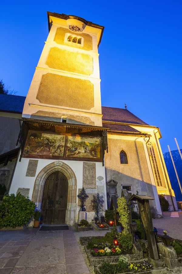 Farny kościół w Hallstatt obrazy stock
