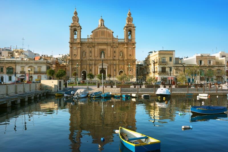 Farny kościół w Msida obraz stock
