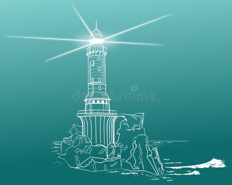 Faro ilustración del vector