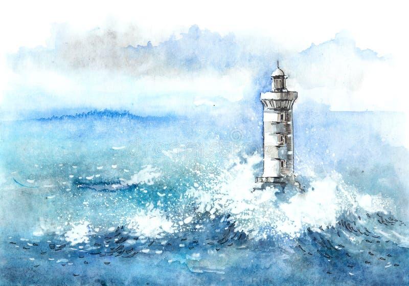 Faro illustrazione vettoriale