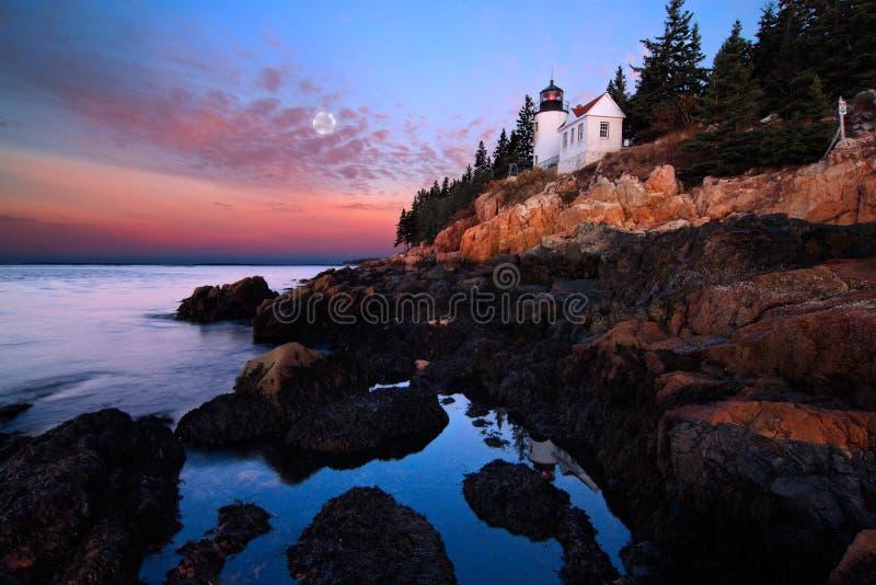 Faro all'alba fotografia stock libera da diritti
