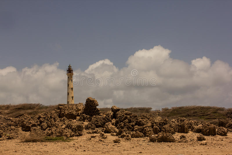 Faro aruba royalty free stock photography