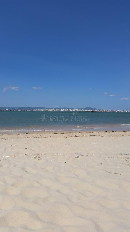 Faro Beach royalty free stock photo