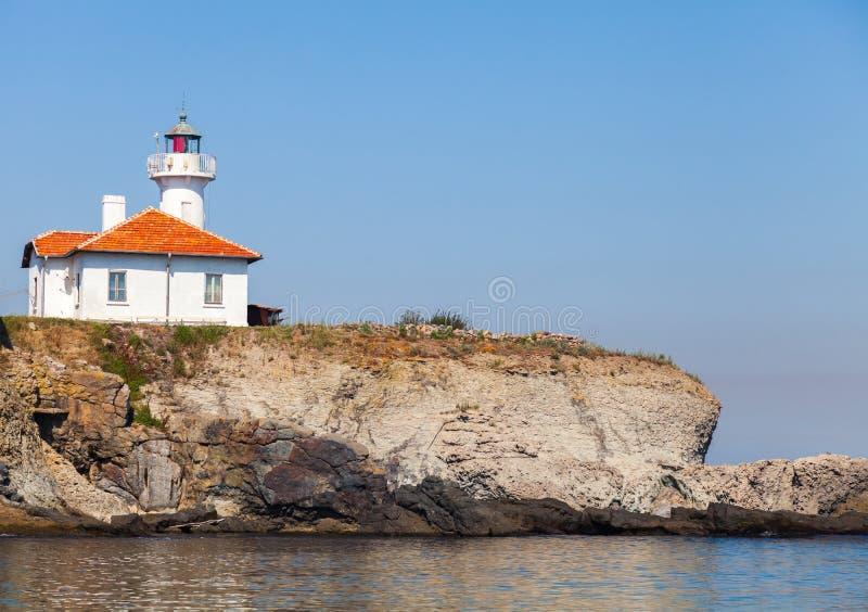 Faro blanco en St Anastasia Island imágenes de archivo libres de regalías