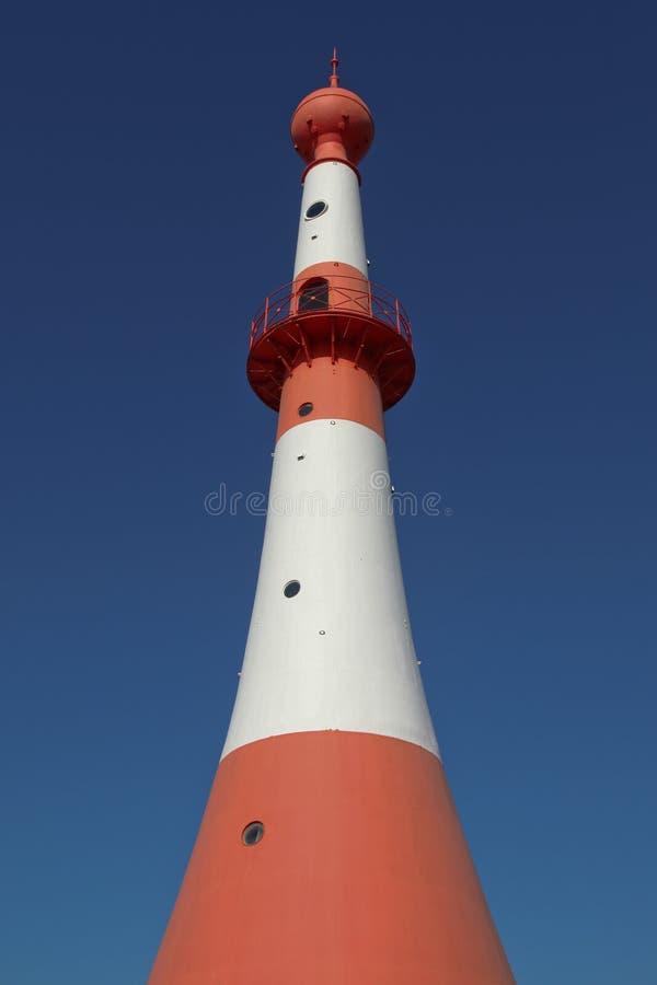 Faro in Bremerhaven, Germania fotografia stock