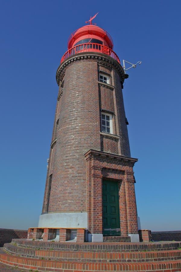 Faro in Bremerhaven, Germania fotografie stock