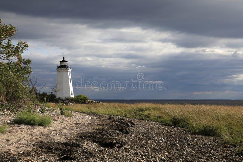 Faro Bridgeport Connecticut de la isla de Fayerweather fotografía de archivo libre de regalías