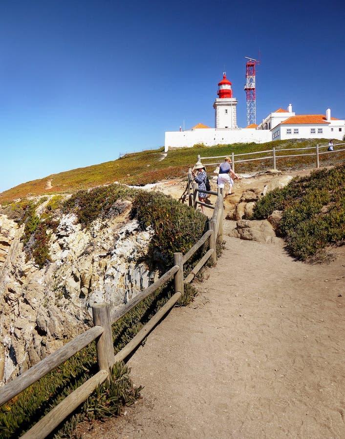 Faro Cabo DA Roca, Portugal fotos de archivo libres de regalías