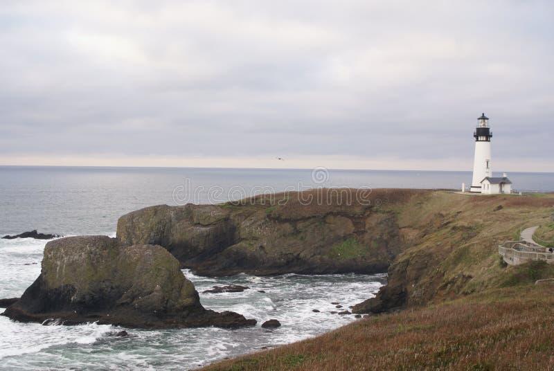 Faro capo di Newport Oregon Yaquina immagine stock libera da diritti