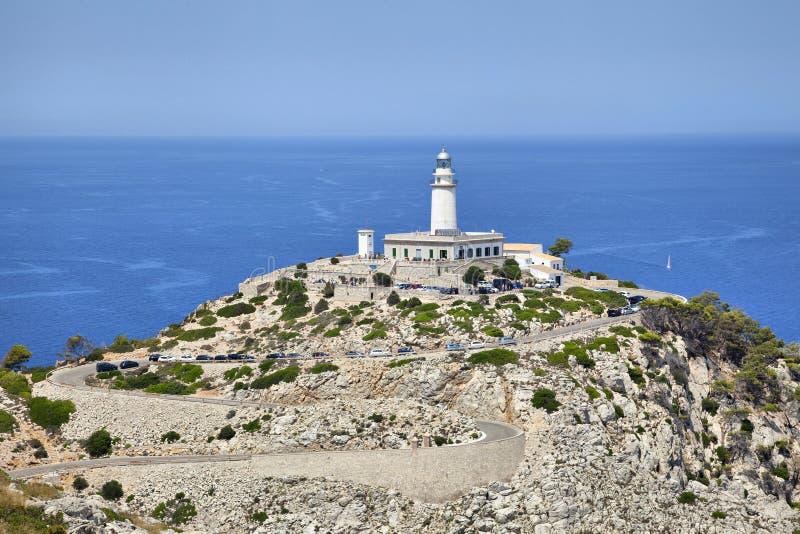 Faro a capo Formentor, Maiorca fotografie stock libere da diritti