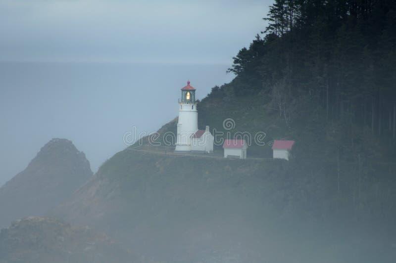 Faro capo Oregon di Heceta immagini stock