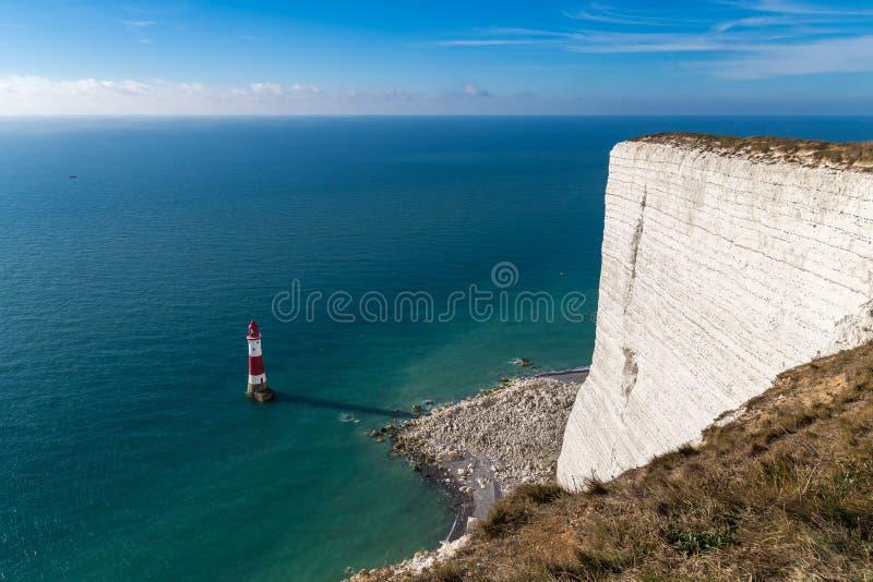 Faro capo sassoso, Sussex orientale, Regno Unito fotografia stock