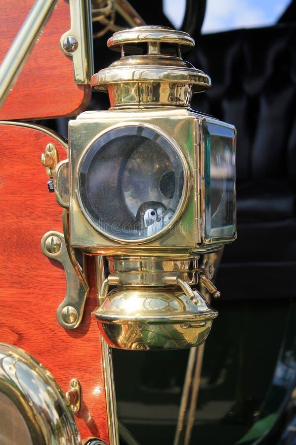 faro d'annata americano classico del gas dell'automobile di 1900s fotografia stock libera da diritti