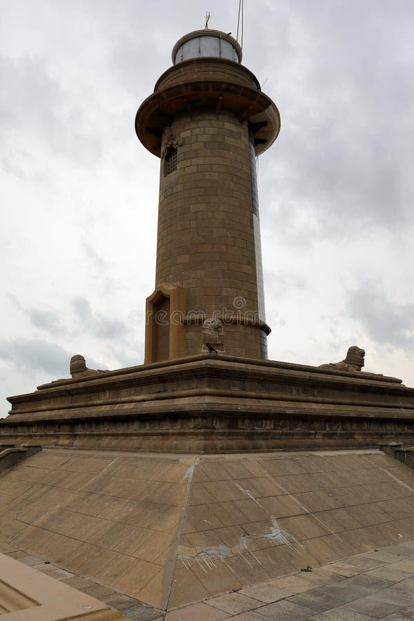 Faro dal porto a Colombo nello Sri Lanka immagine stock libera da diritti