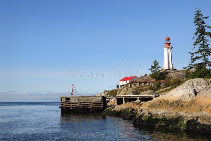 Faro de Atkinson del punto, Columbia Británica fotos de archivo libres de regalías