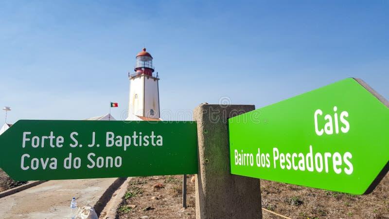 Faro de Berlengas, Peniche, Portugal imagen de archivo libre de regalías