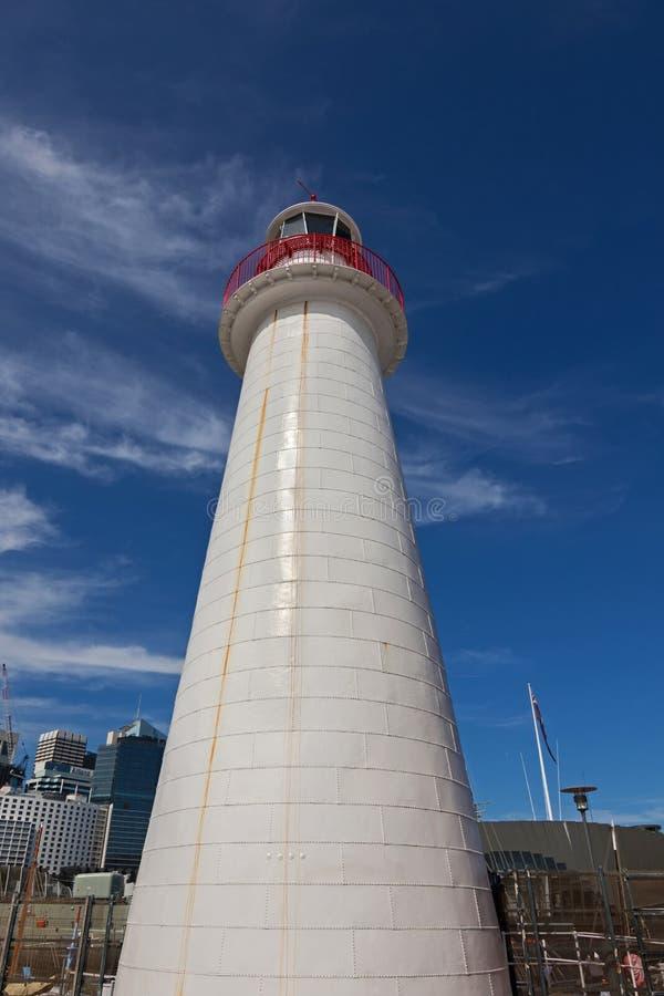 Faro de Bowling Green del cabo situado en Darling Harbour en Sydn fotos de archivo libres de regalías