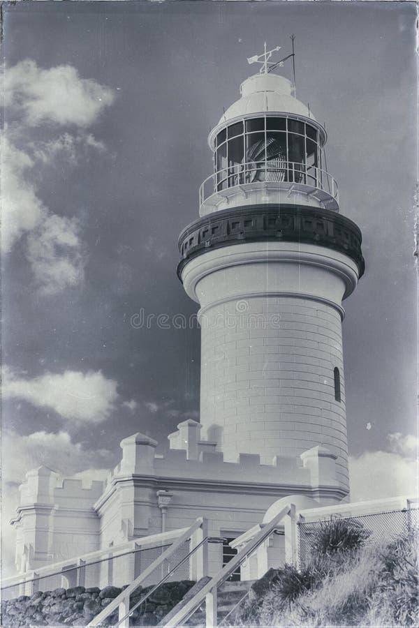 Faro de Byron del cabo imagen de archivo