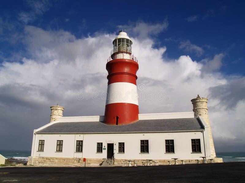 Faro de Cabo Agulhas fotos de archivo libres de regalías