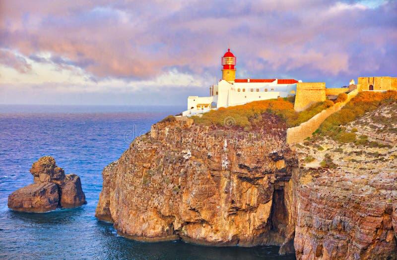 Faro de Cabo de São Vicente imagen de archivo libre de regalías