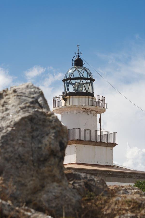 Faro de Cap de Creus, España imagenes de archivo